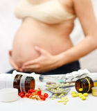 Pregnancy and Medicine Stock Image