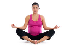 Pregnancy meditation Royalty Free Stock Image
