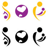 Pregnancy and motherhood symbol. Vectir illustration Stock Photography