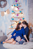 Pregnancy New Year father mother. Pregnancy New Year father and mother Stock Images
