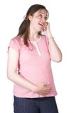 Pregnancy news - cell phone Stock Images