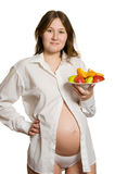 Pregnancy and nutrition Stock Photography