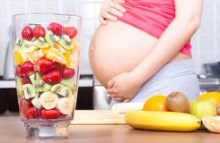 Pregnancy and nutrition. Stock Image