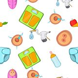 Pregnancy pattern, cartoon style. Pregnancy pattern. Cartoon illustration of pregnancy vector pattern for web Stock Image