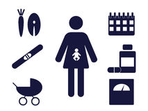 Pregnancy pictograms Royalty Free Stock Photo