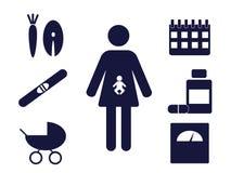 Pregnancy pictograms Royalty Free Stock Photo