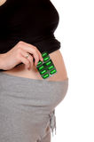 Pregnancy and pills Stock Images