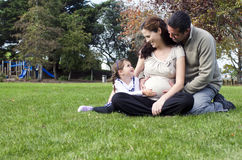 Pregnancy - pregnant woman family Stock Photos