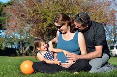 Pregnancy - pregnant woman family Royalty Free Stock Photo
