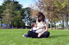 Pregnancy - pregnant woman family Royalty Free Stock Photos