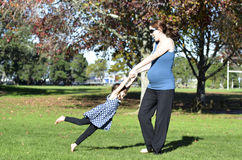 Pregnancy - pregnant woman family Royalty Free Stock Images