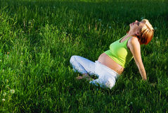 Pregnancy relax Stock Images
