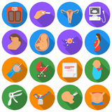 Pregnancy set icons in flat style. Big collection pregnancy vector symbol stock illustration Royalty Free Stock Photography