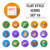 Pregnancy set icons in flat style. Big collection pregnancy vector symbol stock illustration Stock Images