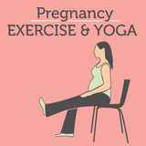 Daily Pregnancy Stretches and Workouts Stock Photos