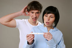 Pregnancy test royalty free stock photography