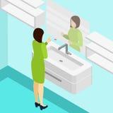 Pregnancy Test Isometric Illustration Royalty Free Stock Photos