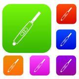 Pregnancy test with positive pregnant set color collection Royalty Free Stock Image