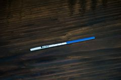 Positive pregnancy test. Fertility, pregnancy and maternity concept. royalty free stock photos