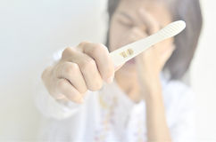 Pregnancy Test showing a positive result Stock Image