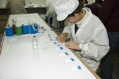 Pregnancy tests factory in China Royalty Free Stock Image