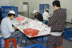 Pregnancy tests factory in China Stock Image