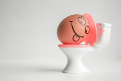 Pregnancy and toxicosis. The egg. With the painted face is brown. Photo for your design stock image