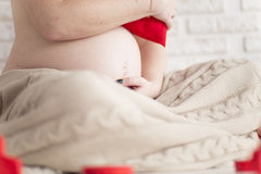 Pregnancy. Woman waiting for a miracle royalty free stock images