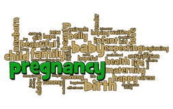 Pregnancy Word Bubble Royalty Free Stock Image