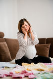 Pregnancy worries Stock Photography