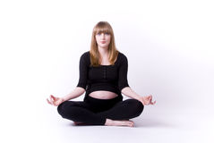 Pregnancy yoga Royalty Free Stock Photo