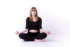 Pregnancy yoga royalty free stock photo