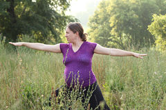 Pregnancy and yoga Royalty Free Stock Photo