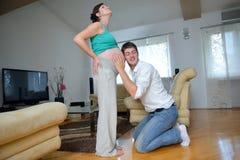 Pregnanrcy della famiglia Immagine Stock Libera da Diritti