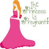 Is Pregnant公主 库存照片