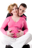 We are pregnant Royalty Free Stock Photos