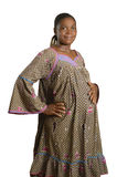 Pregnant african woman in traditional clothes Stock Image