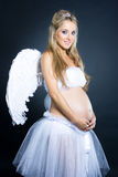 Pregnant angel Royalty Free Stock Photos