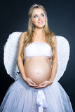 Pregnant angel Stock Images
