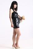 Pregnant Asia fashion woman. Fashion pregnant asia woman in studio Royalty Free Stock Images
