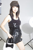 Pregnant Asia fashion woman Stock Photo