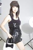 Pregnant Asia fashion woman. Fashion pregnant asia woman in studio Stock Photo