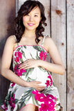 Pregnant asian woman Royalty Free Stock Photo
