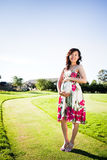 Pregnant asian woman Stock Photography