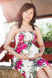 Pregnant asian woman Stock Image