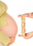 Pregnant of a baby boy Stock Image