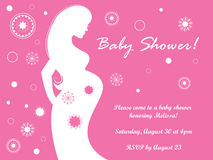 Pregnant Baby Shower Invite Stock Image