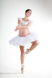 Pregnant ballet dancer Stock Photos