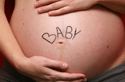 Pregnant belly Stock Photography