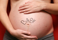 Pregnant belly Royalty Free Stock Photos
